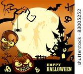 happy halloween frame | Shutterstock .eps vector #83005252