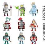 cartoon knight icon | Shutterstock .eps vector #83007811