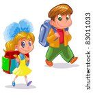 children go to school | Shutterstock .eps vector #83011033