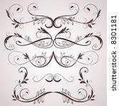 vintage elements for design. | Shutterstock .eps vector #8301181