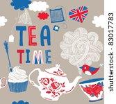 tea time   Shutterstock .eps vector #83017783