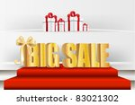 3d big sale  made of pure ... | Shutterstock .eps vector #83021302