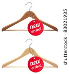 clothes hanger and new arrival... | Shutterstock .eps vector #83021935