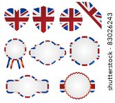 united kingdom union jack set | Shutterstock .eps vector #83026243