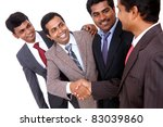 indian business people shaking... | Shutterstock . vector #83039860