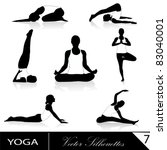 yoga silhouette collection ... | Shutterstock .eps vector #83040001