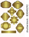 set of vector gold labels which ... | Shutterstock . vector #83040292