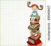 Sketchy Vector  Of Schoolgirl...