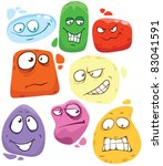 vector different smileys. | Shutterstock .eps vector #83041591
