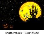 halloween background with bat ... | Shutterstock .eps vector #83045020