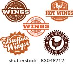 vintage style chicken wing... | Shutterstock .eps vector #83048212