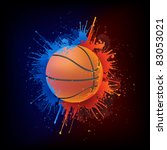 basketball ball | Shutterstock .eps vector #83053021