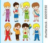 cute little boy set | Shutterstock .eps vector #83055550