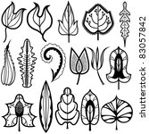 leafs design set   Shutterstock .eps vector #83057842