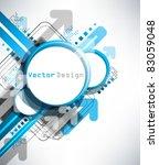 eps10 vector blue modern frame... | Shutterstock .eps vector #83059048