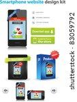smartphone website design kit   Shutterstock .eps vector #83059792