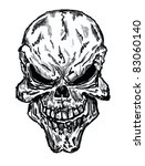 sketch of evil skull | Shutterstock . vector #83060140