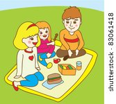 family picnic at the park | Shutterstock .eps vector #83061418