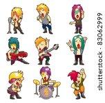 cartoon heavy metal rock music... | Shutterstock .eps vector #83062999