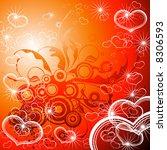 red valentines background  ... | Shutterstock .eps vector #8306593