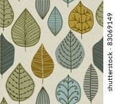 a seamless pattern with leaf... | Shutterstock .eps vector #83069149