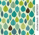 Seamless Pattern On Leaves...