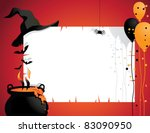 halloween witch background a... | Shutterstock .eps vector #83090950