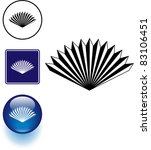 folding hand fan symbol sign... | Shutterstock .eps vector #83106451
