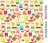 fashion accessories seamless... | Shutterstock .eps vector #83107066