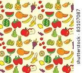 cute fruit seamless background | Shutterstock .eps vector #83107087
