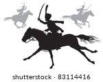 cavalry vector silhouettes ...