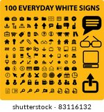 100 everyday set icons  signs ... | Shutterstock .eps vector #83116132