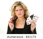 addicted gambler woman with bad ... | Shutterstock . vector #831173