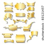 set of vector grunge banners   Shutterstock .eps vector #83121457