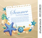 greeting card with shells and... | Shutterstock .eps vector #83133823