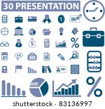 30 presentation icons  signs ... | Shutterstock .eps vector #83136997