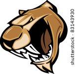 animal,art,artwork,cat,clip,clipart,cougar,face,growl,head,high school,illustration,image,mascot,mountain lion
