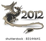 black dragon a symbol of year... | Shutterstock .eps vector #83144641