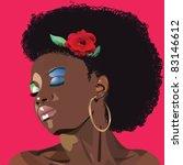 afro woman   Shutterstock .eps vector #83146612