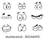 Cartoon Funny Eyes Set.vector...