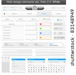 web design elements set white.... | Shutterstock .eps vector #83148949