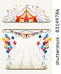 circus frame with space for text | Shutterstock .eps vector #83149786