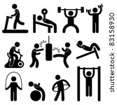 man people athletic gym... | Shutterstock .eps vector #83158930
