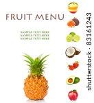 fruit menu | Shutterstock . vector #83161243