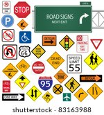 image of various road signs... | Shutterstock .eps vector #83163988