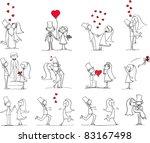 cartoon wedding pictures | Shutterstock . vector #83167498