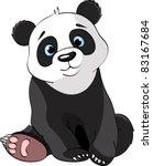 Stock vector very cute sitting panda 83167684