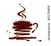 chocolate cup | Shutterstock .eps vector #83170405