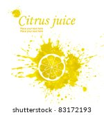 illustration of lemon in a... | Shutterstock . vector #83172193