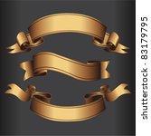 set of golden vector isolated... | Shutterstock .eps vector #83179795